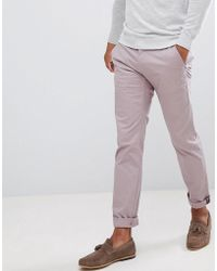 Ted Baker - Smart Slim Chinos In Peached Cotton - Lyst