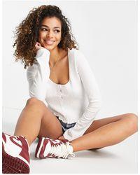 ASOS Co-ord Cardigan With Shirring Detail - White