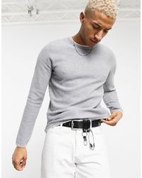 Pull&Bear Lightweight Sweater With Contrast Trim - Green