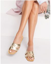 Pimkie Crossover Sandals - Metallic