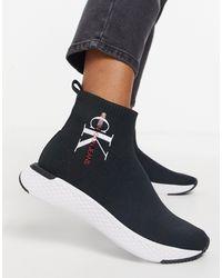 Calvin Klein Черные Ботинки С Логотипом Jeans-черный