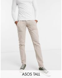 ASOS - Tall - Jean slim avec poches style workwear - Lyst