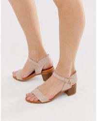 Miss Kg Low Block Heeled Sandal - Natural