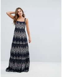 Pepe Jeans - Printed Maxi Dress - Lyst
