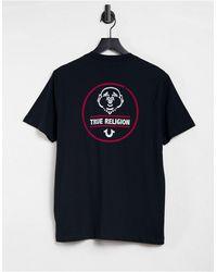 True Religion - Черная Футболка С Логотипом На Спине -черный Цвет - Lyst