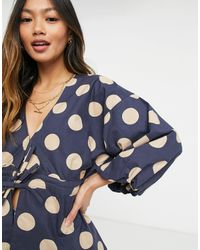 ASOS Top stile kimono allacciato - Blu