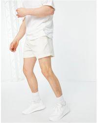 New Look Белые Вельветовые Шорты Со Шнурком -белый