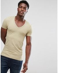 a676f653d5 ASOS - Extreme Muscle Fit T-shirt With Deep V Neck And Stretch - Lyst
