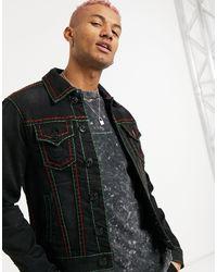True Religion Джинсовая Куртка -черный Цвет