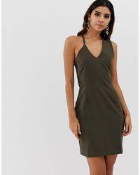 Vesper - Облегающее Платье На Бретельках -зеленый Цвет - Lyst