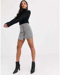 PrettyLittleThing Asymmetric Mini Skirt - Grey