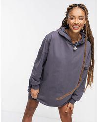 ASOS Hoodie Sweatshirt Dress - Brown
