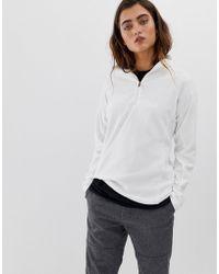 Columbia Glacial Iv Half Zip Fleece In White - Gray