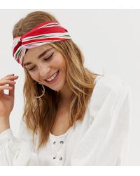 South Beach Striped Print Elasticated Head Band - Multicolour