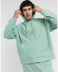 ASOS Co-ord Oversized Polar Fleece Hoodie - Green