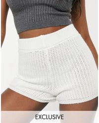 Reclaimed (vintage) - Shorts color crema - Lyst