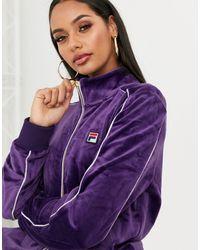 Fila Бархатный Спортивный Топ С Логотипом -фиолетовый - Пурпурный