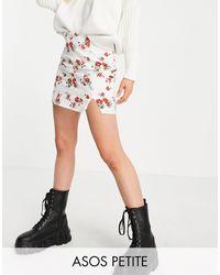 ASOS - Asos Design Petite Mini Skirt - Lyst