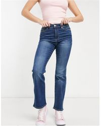 ONLY Wauw Flared Jeans With Mid Rise - Blue