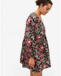 Monki - Разноцветное Платье Мини С Длинными Рукавами И Цветочным Принтом Torborg-многоцветный - Lyst