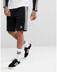 adidas Originals - Adicolor 3 Stripe Shorts In Black Cw2980 - Lyst