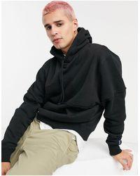 Russell Athletic – Kapuzenpullover aus Fleece mit Logo - Schwarz