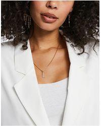 Krystal London – Halskette mit Buchstabenanhänger (L) mit Swarovski-Kristallen - Mehrfarbig