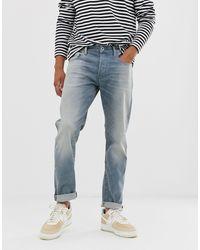 G-Star RAW - 3301 - Jeans slim chiari invecchiati - Lyst