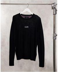 AllSaints Черный Джемпер Из Мериносовой Шерсти