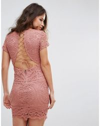 Love Triangle - Mini Dress In Overscale Lace - Lyst