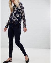 Pieces - Klara Mid Rise Skinny Jeans - Lyst