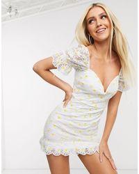 Love Triangle Mini Dress - White