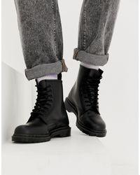 Dr. Martens - Черные Ботинки С 8 Парами Люверсов 1460-черный - Lyst