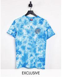Santa Cruz T-shirt boyfriend décontracté effet tie-dye - Bleu