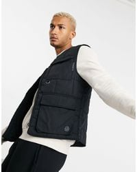 Pull&Bear Utility Vest - Black