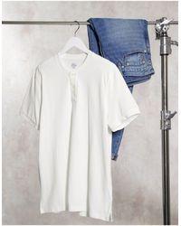 J.Crew Mox Pique Henley T-shirt - White