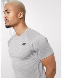 New Balance Running Tenacity Logo T-shirt - Gray