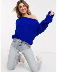 Glamorous Синий Джемпер На Одно Плечо