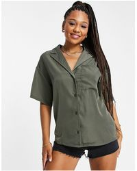 In The Style X naomi genes - chemise oversize d'ensemble - kaki - Multicolore