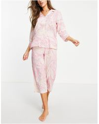 Lauren by Ralph Lauren Розовый Пижамный Комплект С Узором -розовый Цвет