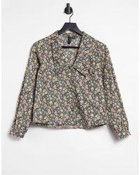 Y.A.S - Camicia a fiori con colletto alla Peter Pan - Lyst