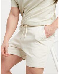 ASOS Jersey Slim Shorts - Natural
