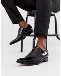 Jeffery West Zapatos negros de alto brillo con cordones Yardbird