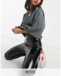 New Look Черные Виниловые Леггинсы -черный Цвет