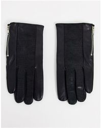 ASOS Leather Gloves - Black