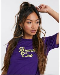 Adolescent Clothing Brunch Girl Trouser Pyjama Set - Purple