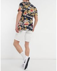 Tommy Hilfiger Brooklyn Short Light Twill Belt Shorts - White