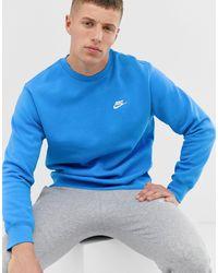 Nike Club Crew Neck Sweat - Blue