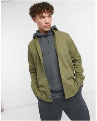 Threadbare Cotton Twill Shirt - Green