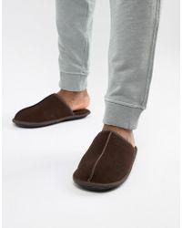 c8ab96ef3 Ralph Lauren Markel Moccasin Sheepskin Slippers in Blue for Men - Lyst